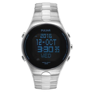 Pulsar On The Go Men's PQ2053 Stainless Steel Watch