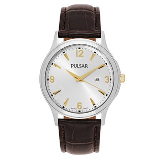 Pulsar Traditional Men's PH9073 Leather Watch