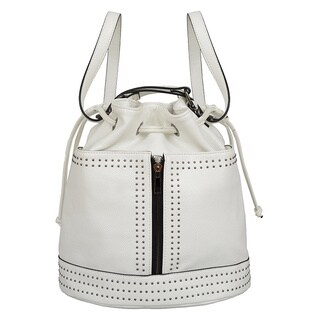 Mellow World Jill White Faux Leather Convertible Handbag