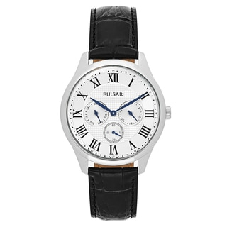 Pulsar Traditional Men's PP6173 Leather Watch