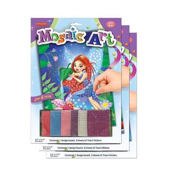 ArtLover Mosaic Art Activity Kits (Set of 3)