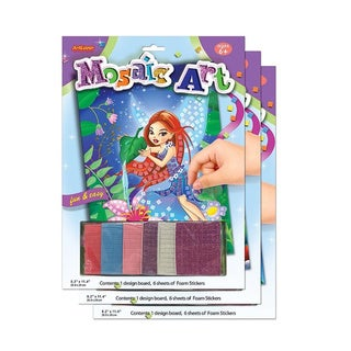 ArtLover Mosaic Art Activity Kits (Set of 3)