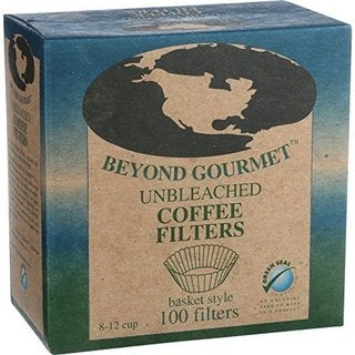 Beyond Gourmet Basket Style Unbleached Coffee Filter (6 cases of 100)