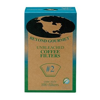 Beyond Gourmet Number-2 Unbleached Disposable Coffee Filter Cones (Box of 100)