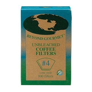 Beyond Gourmet Disposable Number 4-Size Cone Coffee Filters (Box of 100)