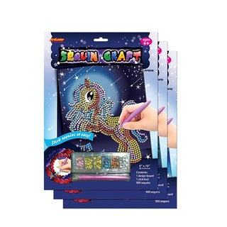 ArtLover Animal-themed Sequin Craft Activity Kits (Set of 3)