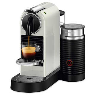 Nespresso Citiz and Milk White Frother and Espresso Machine
