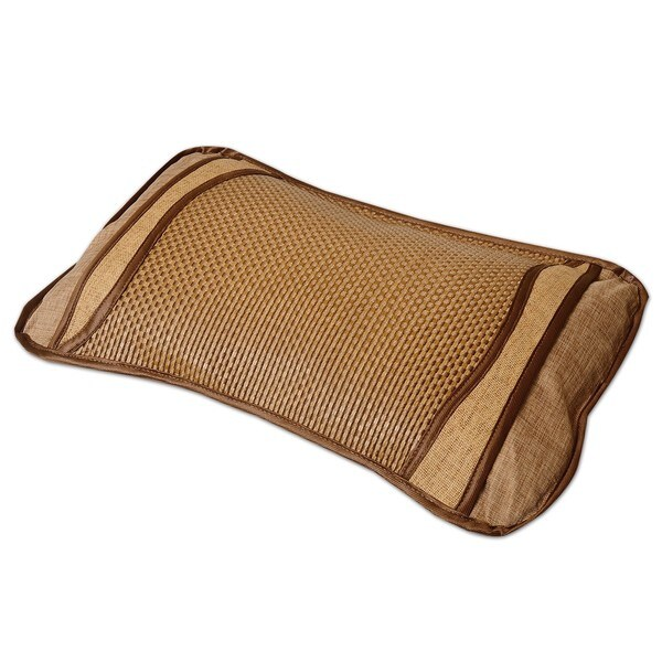 Qbedding Plaid Bing Si Rattan Tea Stem Pillow