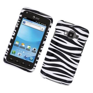 Insten Zebra Glossy 2D Image Protector Case Cover Samsung Rugby Smart I847