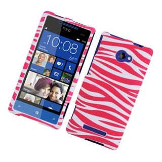 Insten Zebra Rubberized Image Protector Case Cover for HTC Windows Phone 8X/ 6990