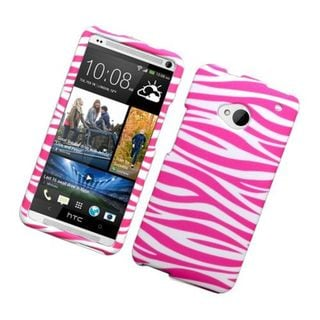 Insten Zebra Rubberized Image Protector Case Cover for HTC One/ M7