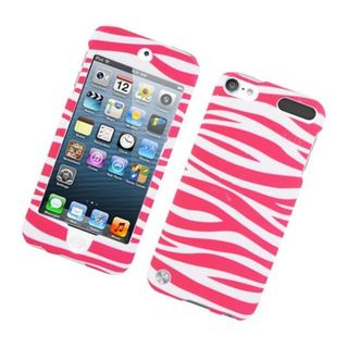 Insten Zebra Rubberized Image Protector Case Cover for Apple iPod Touch 5