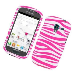 Insten Zebra Rubberized Image Protector Case Cover for Samsung Galaxy Exhibit T599