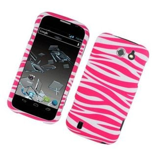 Insten Zebra Rubberized Image Protector Case Cover for ZTE Flash N9500