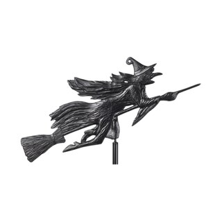 White Hall Home Flying Witch Black Outdoor Garden Weathervane