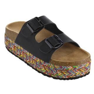 Beston Women's FG89 Faux-leather Slip-on Double-buckles Beach Platform Sandals https://ak1.ostkcdn.com/images/products/14201813/P20796787.jpg?impolicy=medium