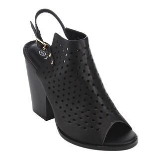 Nature Breeze Women's FG96 Slingback Cut-out Peep-toe Bootie Sandals
