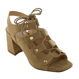 Nature Breeze Women's FG95 Lace Up Gladiator Block Heel Sandals