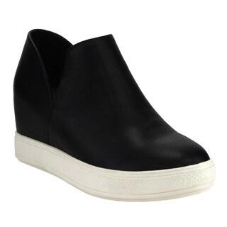 Beston DE08 Women's Hidden Mid-heel Platform Wedge Sneakers Run Half Size Small