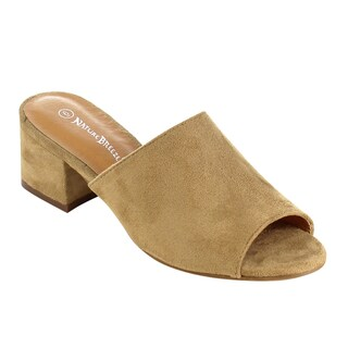 Nature Breeze Women's FG73 Slip-On Chunky Block Heel Mule Sandals (2 options available)