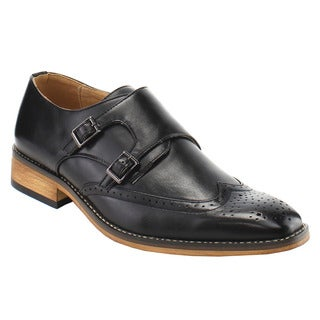 UV Signature FG67 Men's Double Monk Straps Wingtip Dress Shoes