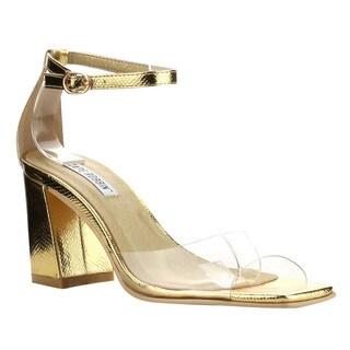 Cape Robbin Women's FG26 Black Single-band Ankle-strap Block-heel Sandals