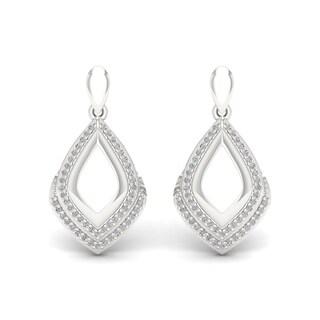 Sterling Silver 1/4ct TDW Diamond Dangle Earrings