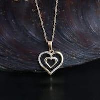 De Couer 10K Yellow Gold 1/20ct TDW Diamond Necklace