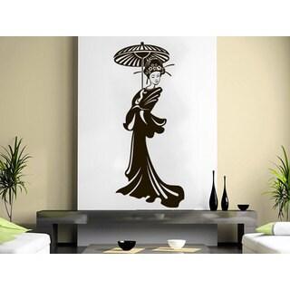 Geisha Vinyl Girl Manga Oriental Girl Japan Japanese Home Decor Art Bedroom Sticker Decal size 48x76