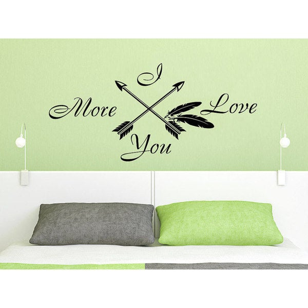 Arrow Quotes Mesmerizing Shop Quotes I Love You More Arrow Quote Art Home Decor Feather