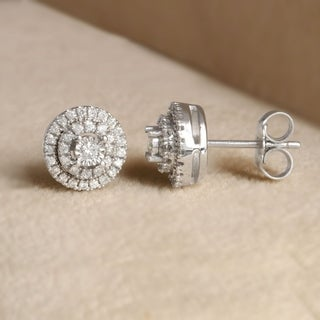 Sterling Silver 1/4ct Diamond Stud Earrings