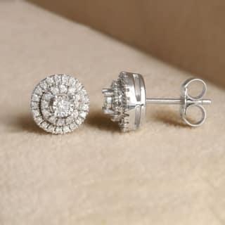 Sterling Silver 1 4ct Diamond Stud Earrings