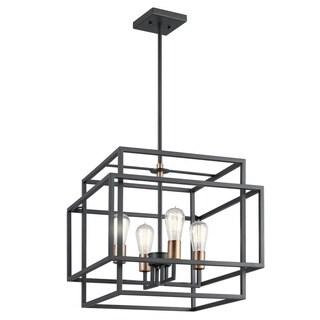 Kichler Lighting Taubert Collection 4-light Black Pendant