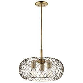 Kichler Lighting Devin Collection 3-light Natural Brass Pendant