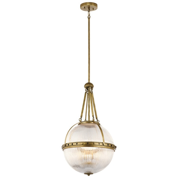 Kichler Lighting Aster Collection 3-light Natural Brass Pendant