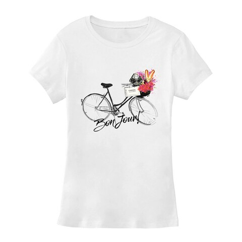 BY Jodi Women's Bonjour Graphic T Shirt