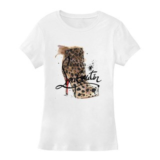 BY Jodi Women's Slim Fit Shoe Graphic T Shirt