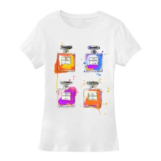 BY Jodi Women's Slim Fit Bottle Graphic T Shirt