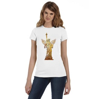 BY Jodi Women's Slim Fit Statue of Liberty T Shirt