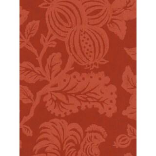Thibaut Palladio Red Flowers Double Roll Designer Wallpaper