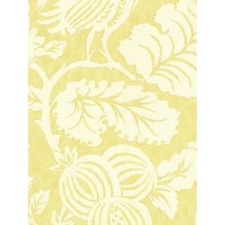 Thibaut Palladio Yellow Vines Double Roll Designer Wallpaper