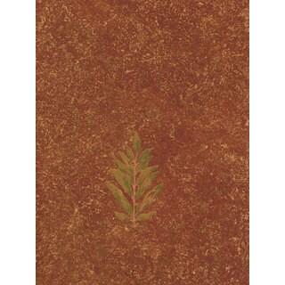 Thibaut Palladio Speckled Red Leaf Double Roll Designer Wallpaper