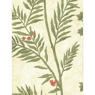 Thibaut Palladio Green Flora Double Roll Designer Wallpaper