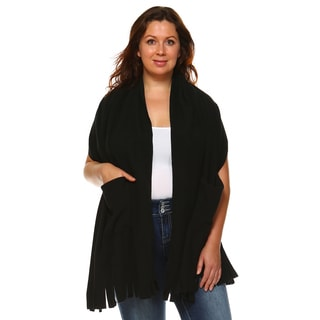 White Mark Women's Jersey Knit Plus-size Shawl
