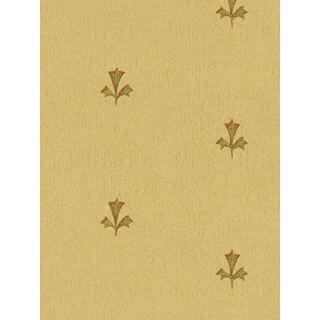 Thibaut Palladio Golden Patterned Double Roll Designer Wallpaper