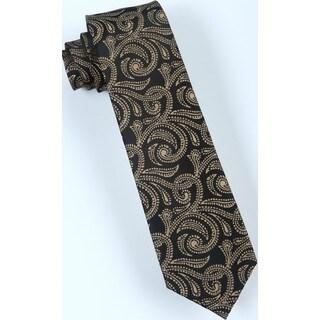 Brio Men's Black/Beige Paisley Dress Tie