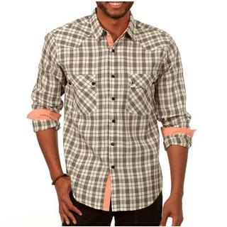 Something Subtle Long Sleeve Plaid Shirt in White