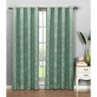 Window Elements Danica Faux Embroidered Jacquard Extra Wide 84-inch Grommet Curtain Panel - 54 x 84
