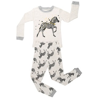 Elowel Zebra Cotton 2-piece Pajama Set