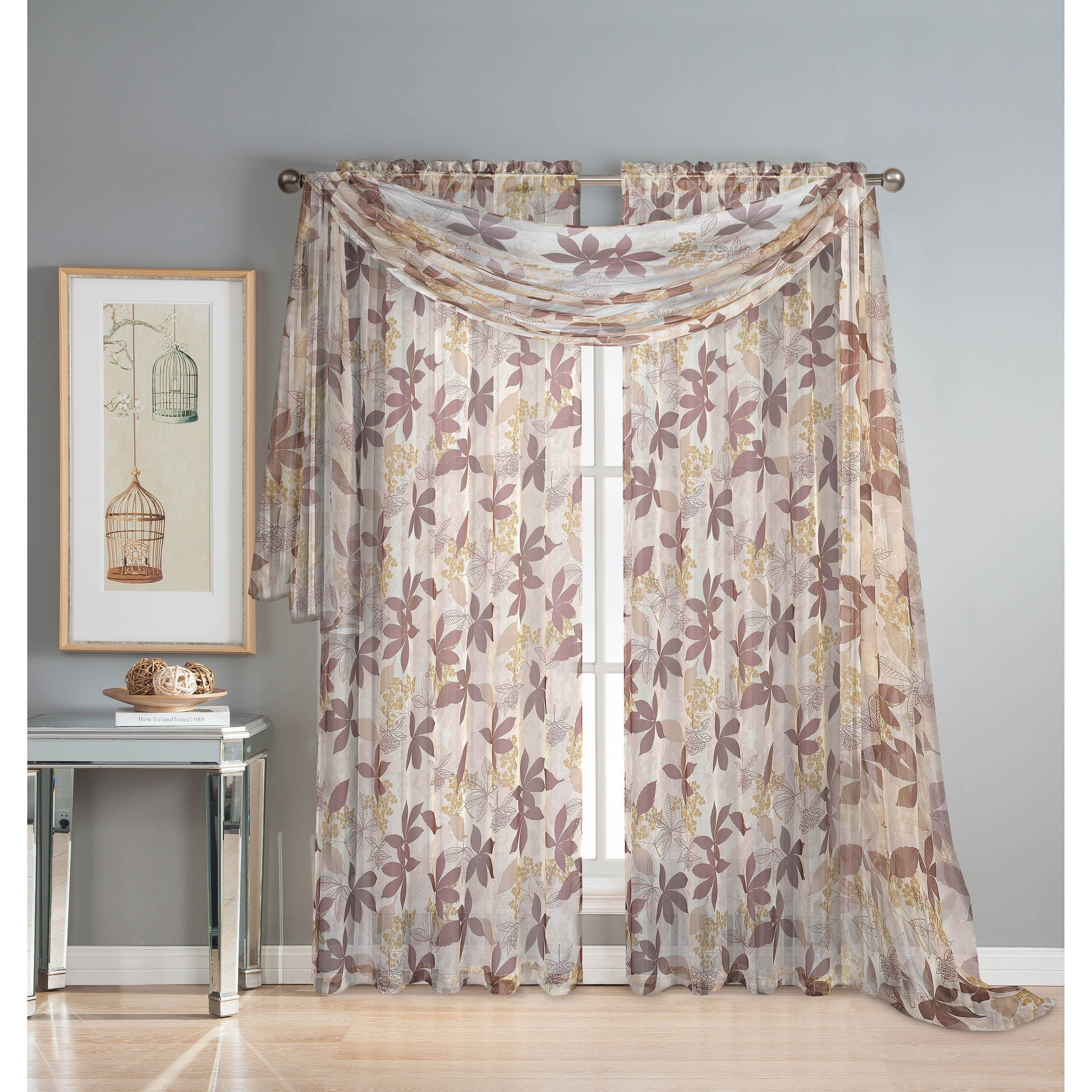 Window Elements Ashville Printed 54-inch Sheer Curtain Sc...